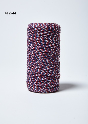 412-44 Baker's Twine 2mm rol 99,7mtr red/white/blue