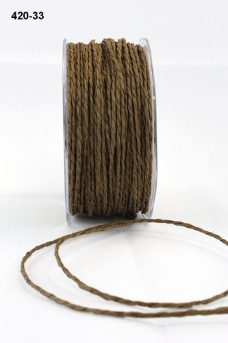 420-33 Brown Paper Cord 2mm rol 91,4mtr