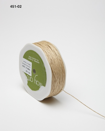 451-02 Light Natural Waxed Cord 1mm rol 91,4mtr