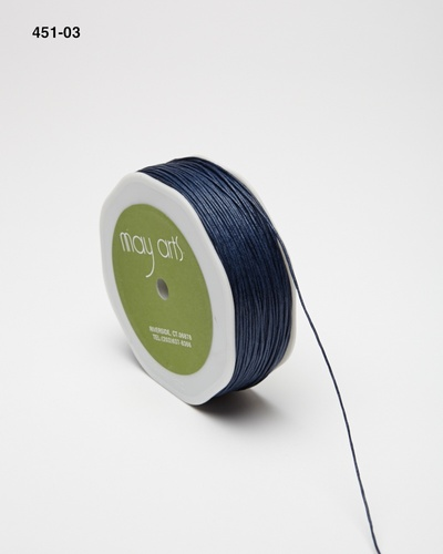 451-03 Navy Waxed Cord 1mm rol 91,4mtr