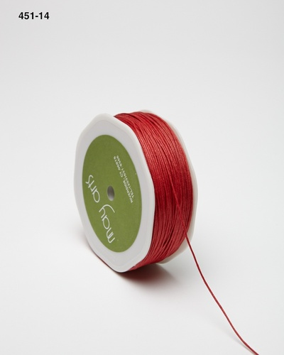 451-14 Red Waxed Cord 1mm rol 91,4mtr