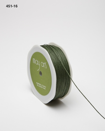 451-16 Olive Green Waxed Cord 1mm rol 91,4mtr