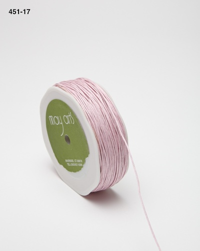 451-17 Light Pink Waxed Cord 1mm rol 91,4mtr