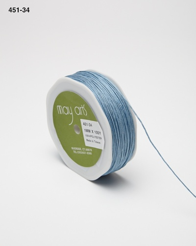 451-34 Light Blue Waxed Cord 1mm rol 91,4mtr