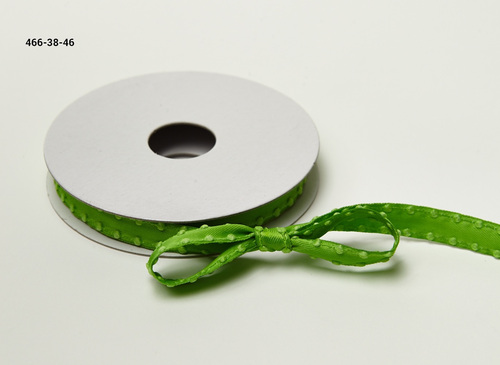466-38-46 Parrot Green 3/8-10mm Satin with Knotted Edge rol 45,7mtr