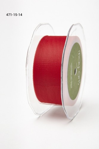 471-15-14 Tule 38mm rol 45,7mtr red