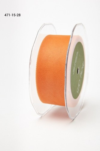 471-15-28 Tule 38mm rol 45,7mtr orange