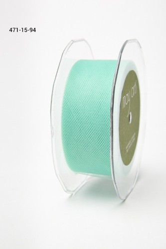 471-15-94 Tule 38mm rol 45,7mtr tiffany blue