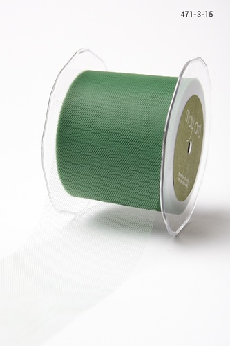 471-3-15 Tule 76mm rol 45,7mtr green
