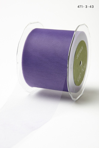 471-3-43 Tule 76mm rol 45,7mtr light purple