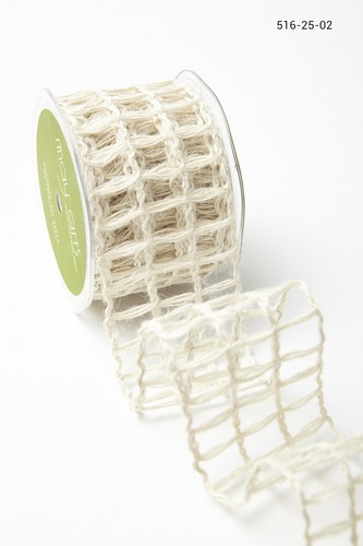 516-25-02 Open Weave Burlap Net 2,5- 63mm rol 9,1mtr light natural