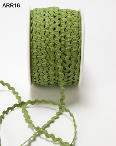 ARR-8-16 Ric Rac 1/8-3mm rol 45,7mtr olive