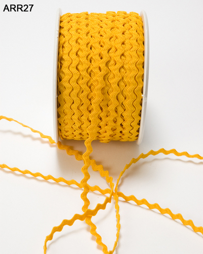 ARR-8-27 Ric Rac 1/8-3mm rol 45,7mtr yellow