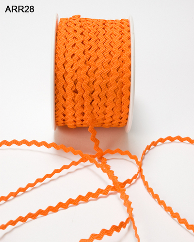 ARR-8-28 Ric Rac 1/8-3mm rol 45,7mtr orange