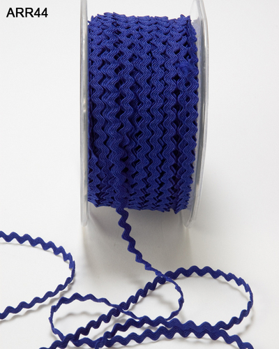 ARR-8-44 Ric Rac 1/8-3mm rol 45,7mtr royal blue