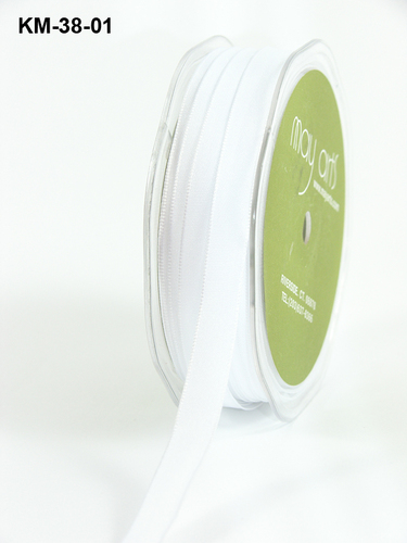 KM01 Solid Two Tone(wired) 3/8-10mm rol45,7mtr white