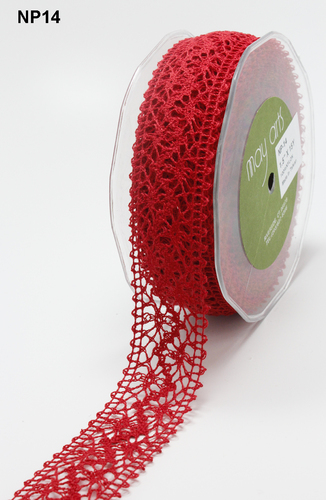 NP-14 Crochet 1,5-38mm rol 13,7mtr red