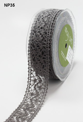 NP-35 Crochet 1,5-38mm rol 13,7mtr pewter