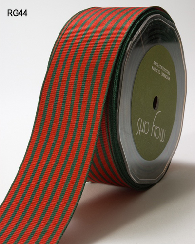 RG-5-44 Grosgrain 1,5-38mm rol 27,3mtr red/greenipes