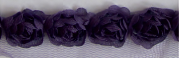 BASE-004/purple Trim of Roses 13,7mtr