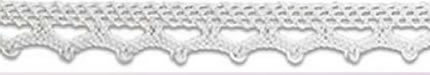 SL-01/White Cotton Lace 10mm 20mtr
