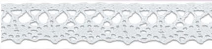 SL-02/White Cotton Lace 15mm 20mtr