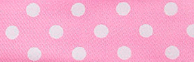 SR1204-06 Satin white Polka Dots 10mm 20mtr light pink