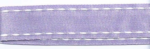 SR1207-01 Ribbon 16mm 20mtr whit white stitched end (01) lilac
