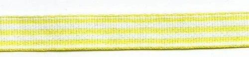 SR1210-07 Ribbon 10mm 25mtr woven Stripes (07) yellow