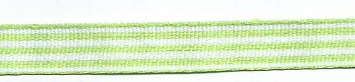 SR1210-08 Ribbon 10mm 25mtr woven Stripes (08) light green