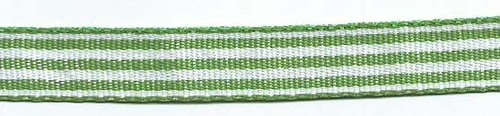 SR1210-09 Ribbon 10mm 25mtr woven Stripes (09) green