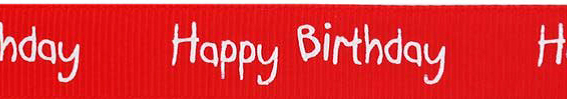 SR1220/250 Ribbon 16mm 20mtr happy birthday red