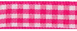 SR1403/10 175 Gingham Ribbons 10mm 20mtr pink