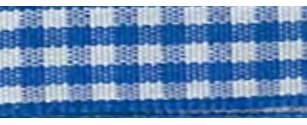 SR1403/10 350 Gingham Ribbons 10mm 20mtr blue