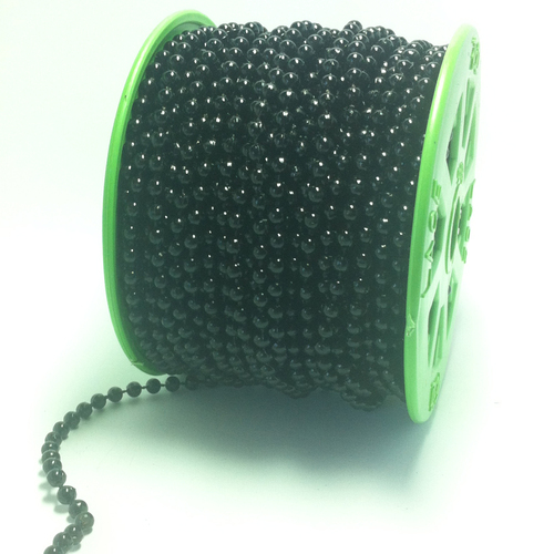 Strung of Pearls 4mm/black 25mtr