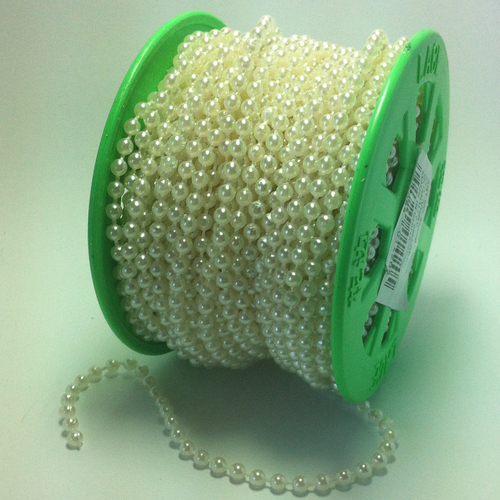 Strung of Pearls 4mm/cream 25mtr