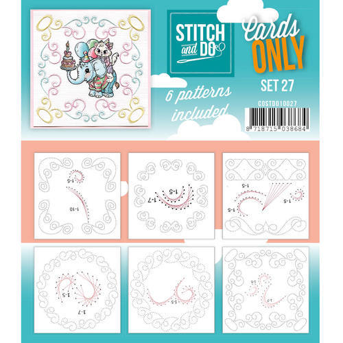 COSTDO10027 Stitch & Do - Cards only - Set 27