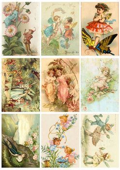 KP0008 Vintage Toppers A4 Fairies