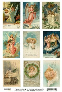 KP0015 Vintage Toppers A4 Angels