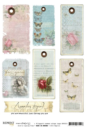 KP0023 Vintage Toppers A4 Wings Tags