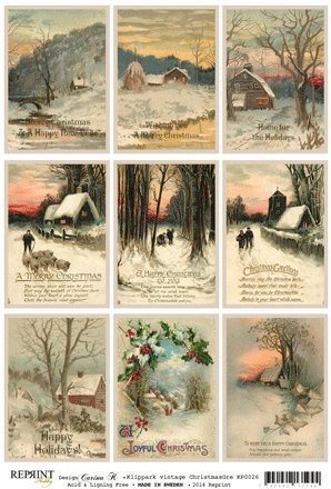 KP0026 Vintage Toppers A4 Christmas
