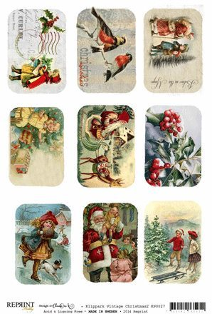 KP0027 Vintage Toppers A4 Christmas 2