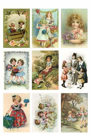 KP0034 Vintage Toppers A4 Summer Children