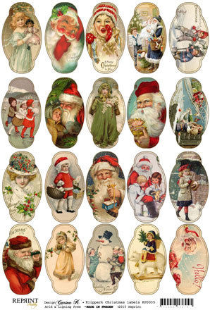 KP0035 Vintage Toppers A4 Christmas Labels