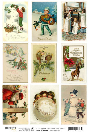 KP0037 Vintage Toppers A4 Christmas Joy