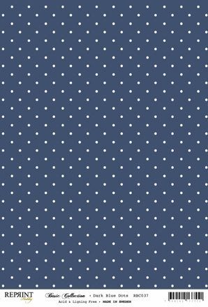 RBC037 Basic Collection A4 200gr Dark Blue Dots