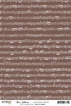 RBC043 Basic Collection A4 200gr Brown Music