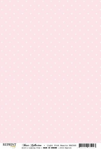 RBC049 Basic Collection A4 200gr Light Pink Mini Dots