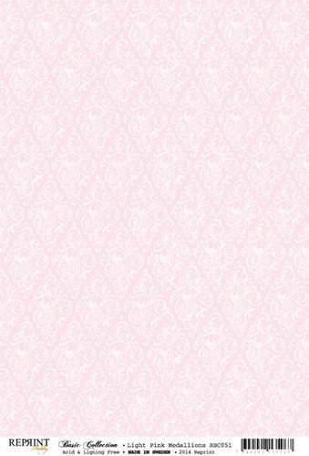 RBC051 Basic Collection A4 200gr Light Pink Hearts