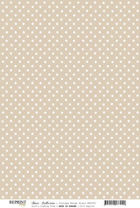 RBC093 Basic Collection A4 200gr Beige stars